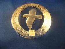 "Mats Jonasson PEACE DOVE Bird Cut Swedish Crystal Glass Paperweight 2 3/4"""