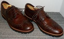 ROCKPORT BROWN LEATHER WINGTIP OXFORDS MEN'S SIZE 8 M! NO RESERVE!
