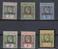 C2696/ BRITISH BARBUDA – SG # 3 – 6 / 8 – 10 / 11 MINT MH SPECIMEN – CV 300 $