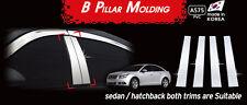 Chrome PVC B-Pillar Garnish Molding Trim 4P Silver A575 for Chevy CRUZE 2009~15