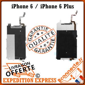 Plaque métal lcd adhésif + Nappe flex rallonge bouton home iPhone 6 / 6 plus