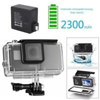 Waterproof External Battery Case Cover Housing Side Power Bank for GoPro Hero5 6