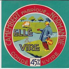 G396 FROMAGE CAMEMBERT CONDE SUR VIRE CALVADOS NORMAND CHANNE A LAIT