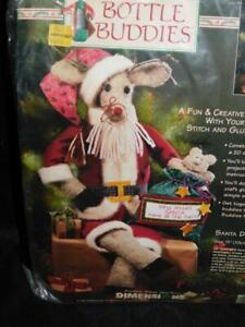 Dimensions Santa Deer Reindeer Bottle Buddies Christmas Decor Craft Kit NEW