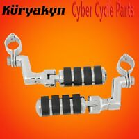 """Kuryakyn Chrome Large ISO-Pegs With Offset & 1 1/4"""" Magnum Quick Clamps 7999"""