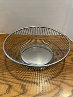 Vintage Fraser's - Italy - Fruit/Bread Basket Stainless Steel Wire Round Bowl