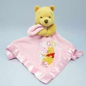 Disney Store Winnie The Pooh My Little Cupcake Pink Baby comforter soother plush