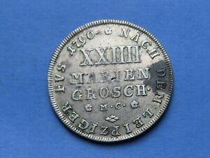 2/3 Taler / 24 Mariengroschen 1790 Braunschweig-Wolfenbüttel  17,12 Gramm