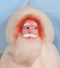 Antique Santa Claus Christmas Ornament Papier Mache Cotton Batting Japan #44