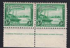 BERMUDA 1936 - 40 HAMILTON HARBOR IMPRINT PAIR