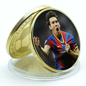 Football Player Leo Messi Gold Plated Gift Coin Festival Souvenirs Artwork