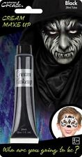 28ml Cream Face & Body Paint Fancy Dress Party Make Up Accessory - Black