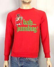 vtg 80s Ugly Christmas Sweater Party Sweatshirt SCROOGE Bah Humbug! sz M/L