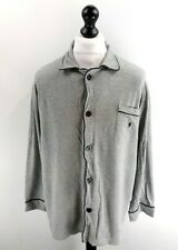 RALPH LAUREN Mens Night Shirt L Large Grey Cotton
