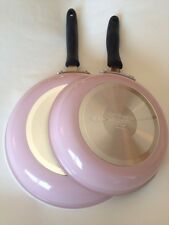 Pink Cuisinart Skillet Fry Pan Set 10 And 12 Inches Rare
