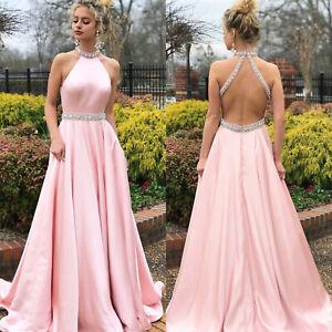 Damen Lang Partykleid Abendkleid Brautjungfer Hochzeitskleid Formal Maxikleider