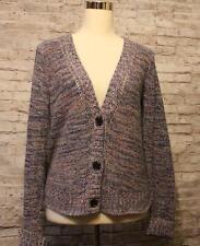 Thin Cardigan Sweater Size M American Eagle AE Melange Blue Pink