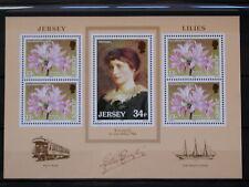 GB - JERSEY '1986 ** MNH BF4 YT 7,50 EUR FLORA,FLORE,TRANSPORTS,FLOWERS,FLEURS