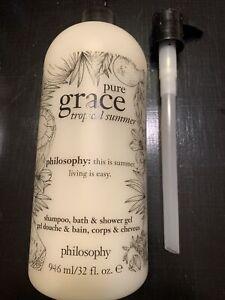 Philosophy Pure Grace Tropical Summer Shampoo/bath/shower 32oz. Factory Sealed