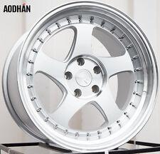 AODHAN AH01 18x10.5 5x114.3 +15 Silver (PAIR) wheels