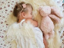 6 x Mystery Flower Headbands Newborn Baby Girl Toddler Pink White Grey Nylon