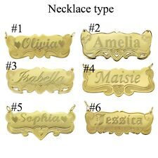 Name Necklace  Personalized  14K Gold GP Any Name Plate Necklace  Producer USA