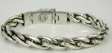 Buddha to Buddha Katja Collection 925 Sterling Silver Heavy Weave Link Bracelet