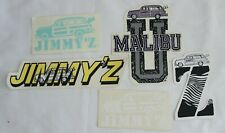 VINTAGE JIMMY'Z SURFBOARD WOODIE CLOTHING SURFING SURF DECAL STICKER LOT OF 5
