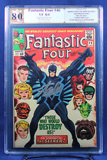 Fantastic Four #46 (Marvel 1966) PGX (not CGC) 8.0 VF / signed Stan Lee!!!