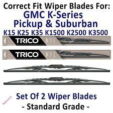 Wipers 2pk Standard 1973-1986 GMC K15 K25 K1500 K2500 Pickup Suburban - 30160x2