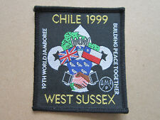 19th World Jamboree Chile Wst Sussex Cloth Patch Badge Boy Scouts Scouting L3K C