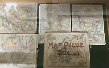 Map Puzzle Box No. 1.  Asia, Africa, North America, England and Wales.