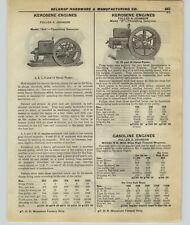 1927 Paper Ad 2 Sided Monarch Fuller & Johnson Kerosene Hit & Miss Engines Gas