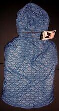 NEW Size XL Blue Quilted Hearts Dog Jacket Coat Parka Pet Clothing Zack & Zoey