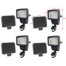 4 PACK 100 SMD LEDs Black Solar Powered Motion Sensor Security Light Flood 60 80