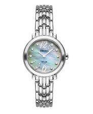 Seiko Women's Solar Diamond Dial Stainless Steel Mini 23.5mm Watch SUP353