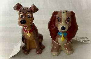 Disney's Lady and the Tramp Salt & Pepper Shakers NOS with Tags
