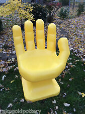 """GIANT Yellow HAND SHAPED CHAIR 32"""" adult size 70's Retro EAMES iCarly NEW"""