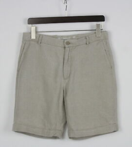 ADOLFO DOMINGUEZ  Men's W32 100% Linen Zip Fly Chino Shorts 25689-JS
