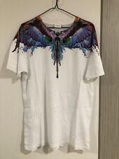 Marcelo Burlon Unisex Printed White T-shirt, Size XS, RRP:395, Authentic