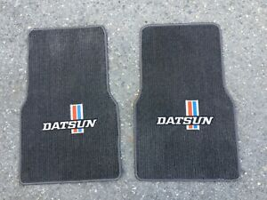 Fit For Datsun Black - grey  Carpet Floor Mat Mats 240Z 260Z 280Z 1979-83 2-pcs