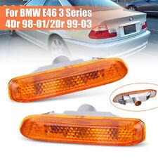 Amber Side Marker Light Turn Lamp For BMW E46 3 Series 4Dr 1998-01/2Dr 1999-03