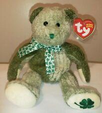 ST* Ty Beanie Baby - MCWOOLY the St. Patrick's Day Irish Bear - MWMT (STICKER)