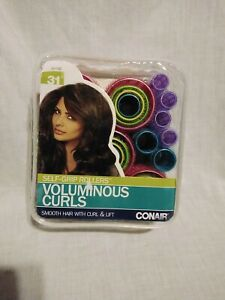 Conair Voluminous Curls 31pcs Self-Grip Rollers NEW