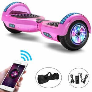 Hoverboard Bluetooth Rosa 6,5 Zoll Elektro Scooter LED ElektroRoller Für Kinder