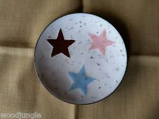 Vintage MID CENTURY MODERN enamel over copper STARS DISH ASHTRAY retro