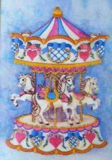 Dimensions Carousel Fantasy Gallery Crewel Kit*Horses*Sealed*New*Bar bara Mock