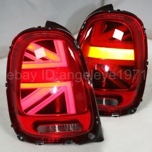 LED rear lights For MINI Cooper F56 LED Strip tail lamps 2014-2016 Year Red