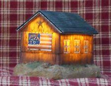 Lit Rustic Flag Barn, Christmas, Country, Prim, Holiday decor, decoration