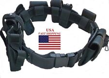 Duty Belt 10 Pc Official Police Officer Security Guard Law Enforcement Equipment